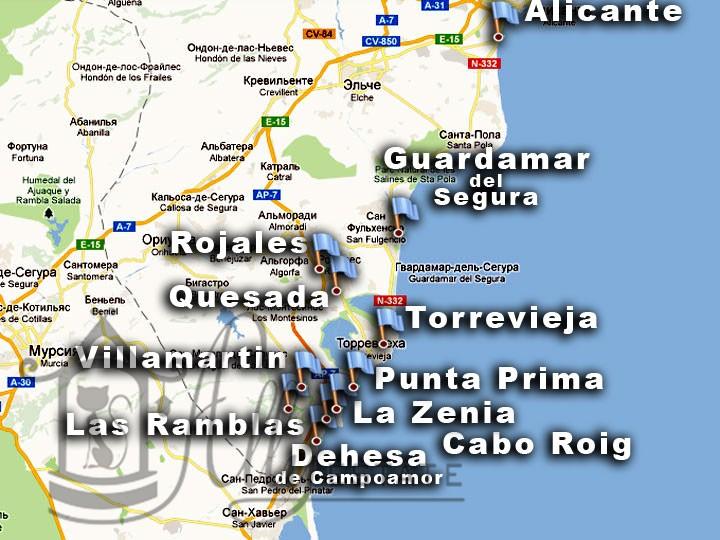 Недвижимость в испании карта испании испания