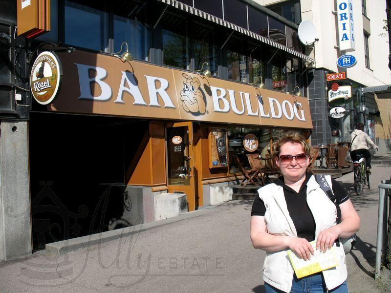 Тампере возле отеля Виктория, ресторан «Bar Bulldog»